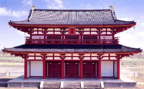 平城宮の朱雀門(平成10年復元)