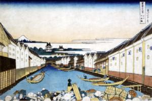 1831年 富獄三十六景 江戸日本橋 葛飾北斎